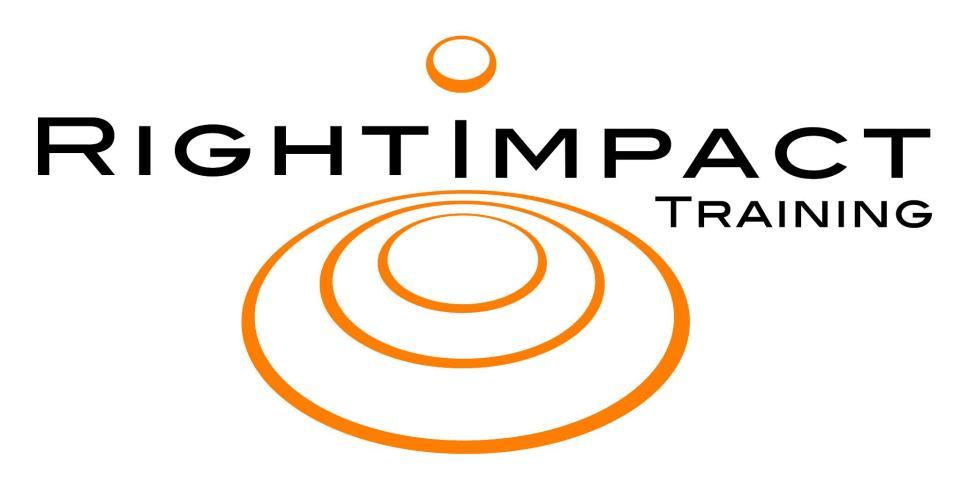 Right Impact Training: Organisation Development